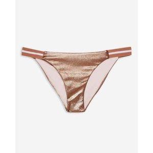 NWOT Topshop Shimmer Bikini Bottoms size 6